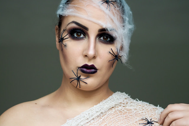 halloween makeup spiders