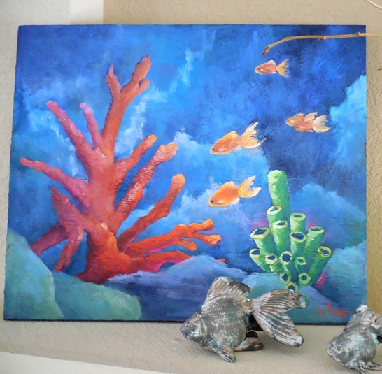 CAROL SCHIFF DAILY PAINTING STUDIO: Coral Reef Painting
