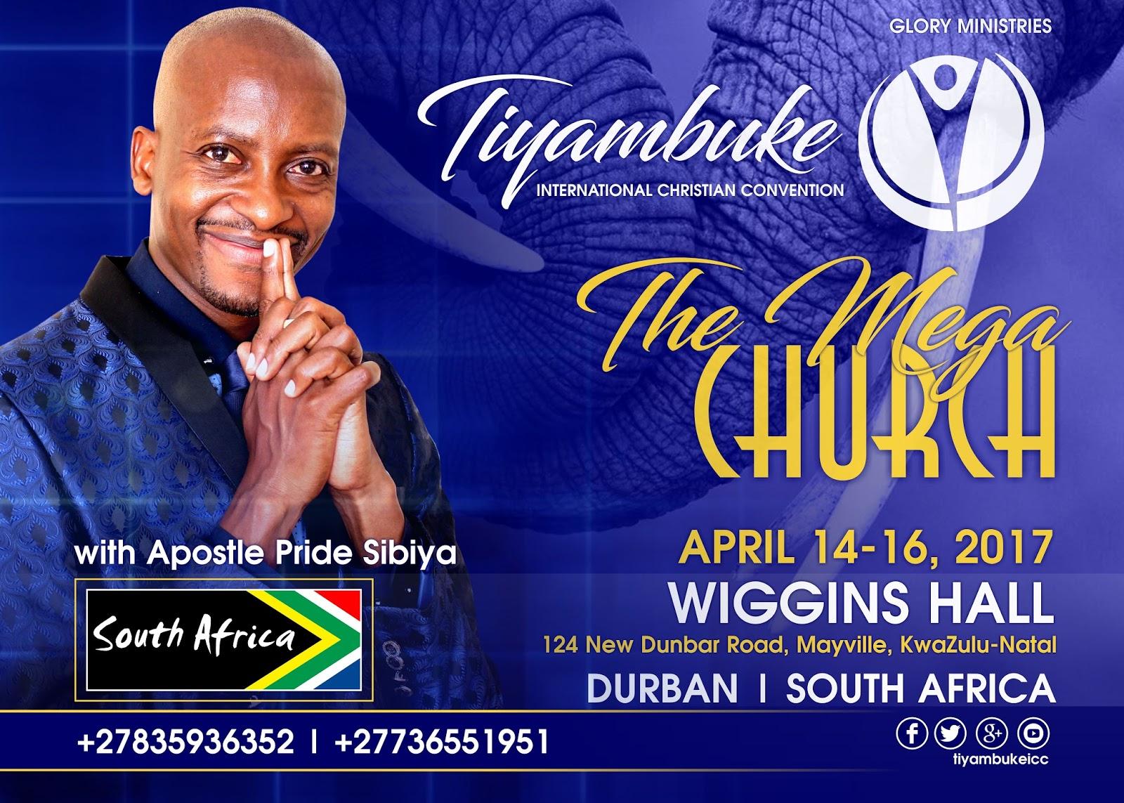 Meme and Banners for Mzansi Tiyambuke 2017 with Apostle Pride Sibiya