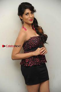 Kannada Actress Iti Acharya Stills in Strapless Dress at Dhwani Movie Press Meet  0004.jpg