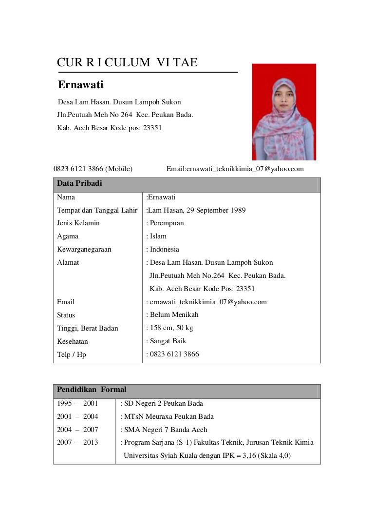 Download Format Cv Lamaran Kerja Doc Legal Guardian Letter