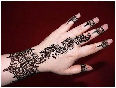 Bangle Mehndi For Bride