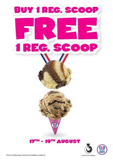 Baskin-Robbins Malaysia Buy 1 Regular Scoop Free 1 Regular Scoop Promo