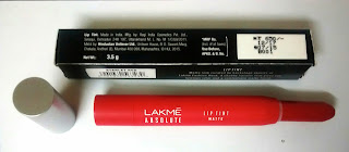 Product Review - Lakme Absolute Lip Pout Matte - Starlet Red
