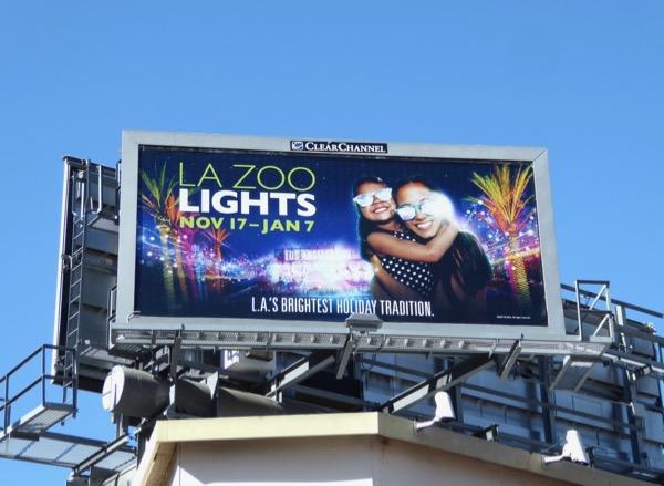 LA Zoo Lights Holiday 2017 billboard
