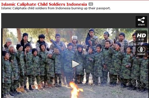 Beredar Video Anak-anak Mengancam Memerangi Penguasa Irak, Khususnya Malaysia dan Indonesia