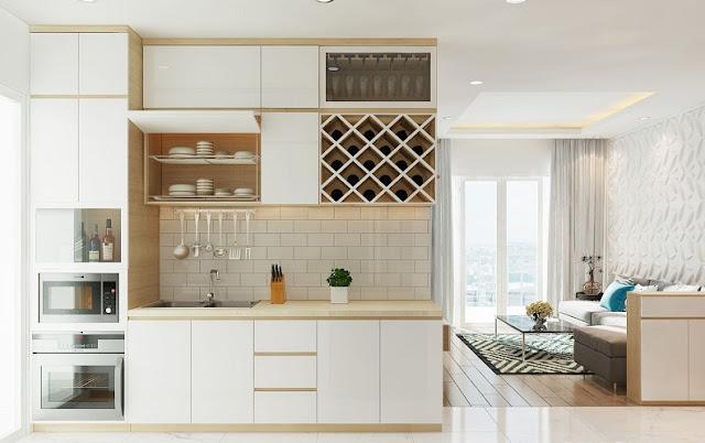 Mẫu thiết kế nội thất chung cư 67m2 sang trọng, tiện nghi - H4