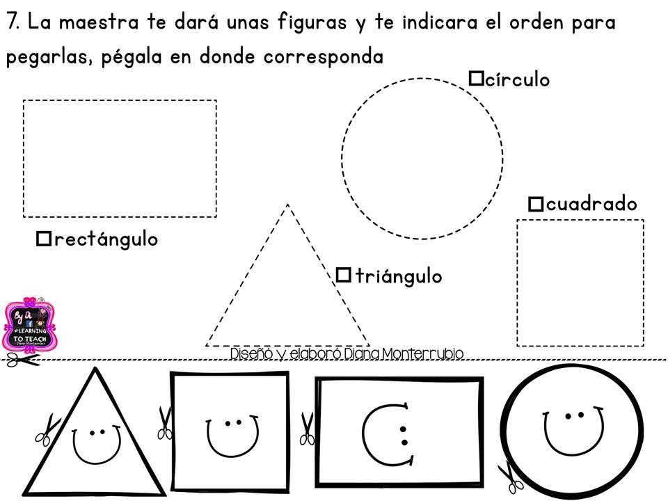 Figuras Para Colorear Para Niños De Preescolar: Mini Evaluación Preescolar