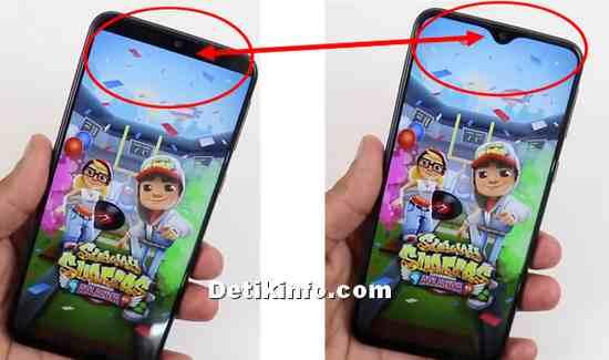 layar penuh main game di HP Samsung M10 M20