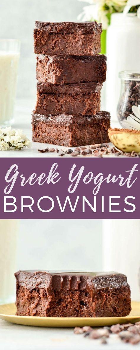 Healthy Greek Yogurt Brownies