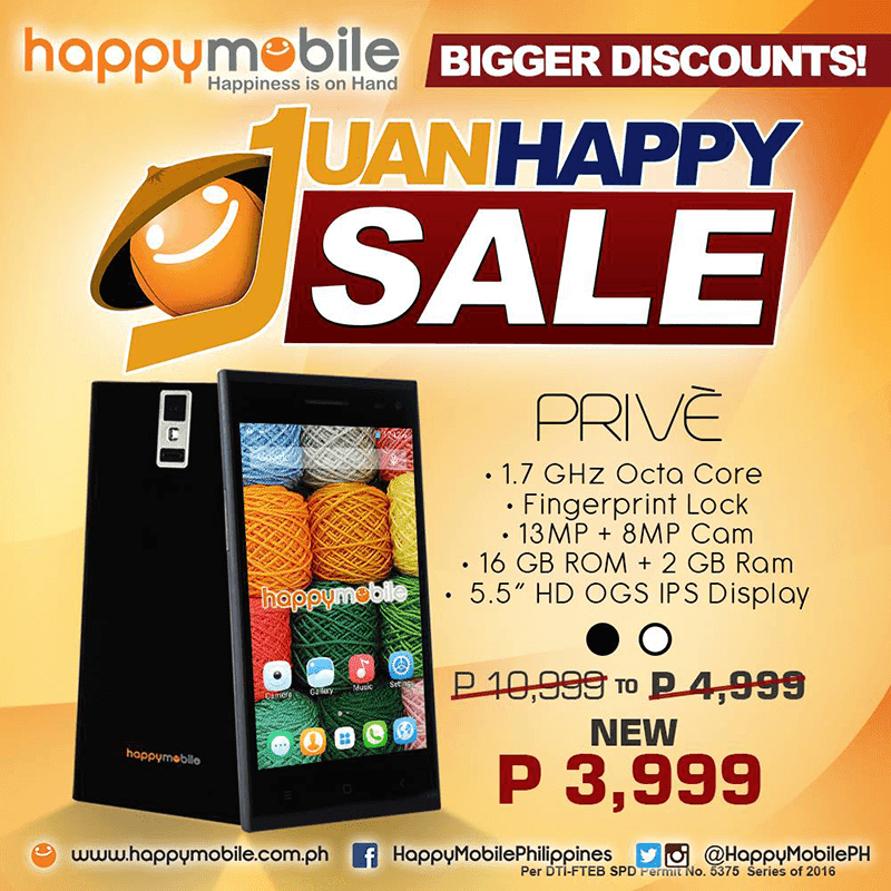 Happy Mobile Prive 3,999 Pesos