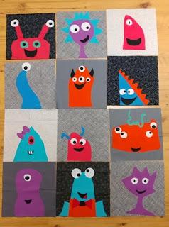 Monster blocks made by kids