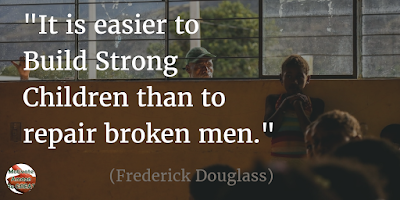 "Quotes About Strength And Motivational Words For Hard Times: ""It is easier to build strong children than to repair broken men."" - Frederick Douglass"
