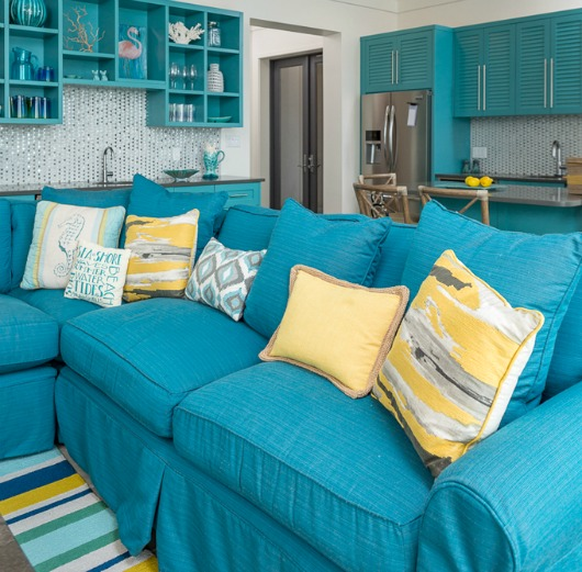 Turquoise Blue Sofa