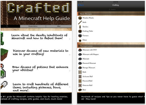 Crafted A Minecraft Help Guide