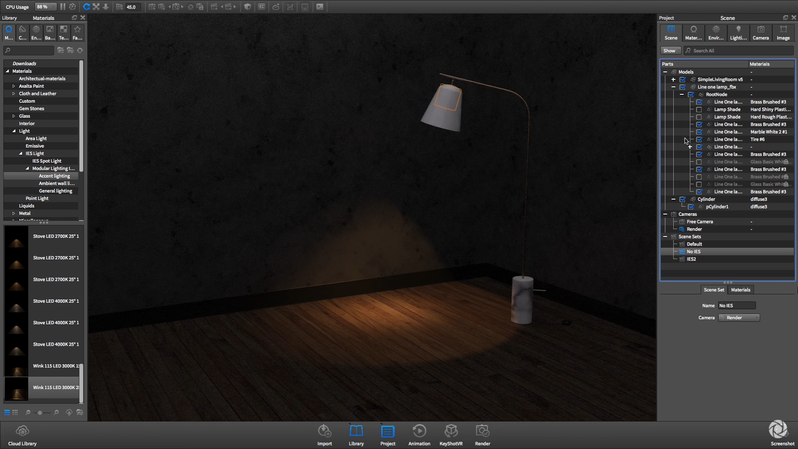 More dynamic and realistic light with IES Profile in Keyshot