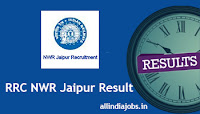RRC NWR Jaipur Result