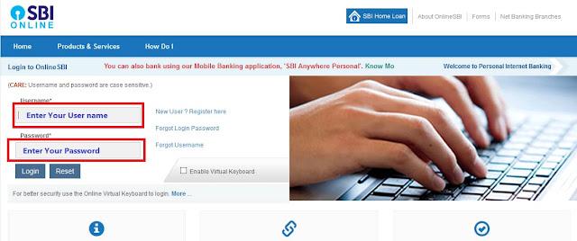 LPG id linking process online sbi