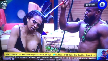 #BBNaija Housemate, Kemen Disqualified & Evicted For 'Touching' TBoss