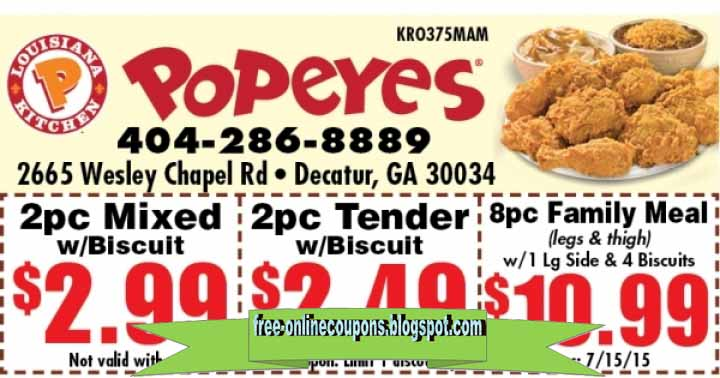 popeyes coupon canada