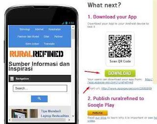 cara download aplikasi android untuk blog dan website
