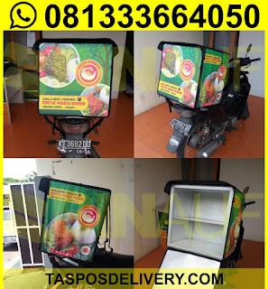 Tas delivery makanan, box delivery motor bebek bahama malang