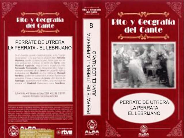 Video VHS que Alga Editores sacó al mercado con la particularidad de contener el programa de Rito y Geografía del Cante le didicó en solitario.