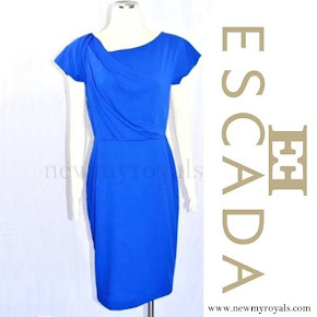 Crown Princess Victoria Wore Escada Virgin Wool Dress in Electric Blue