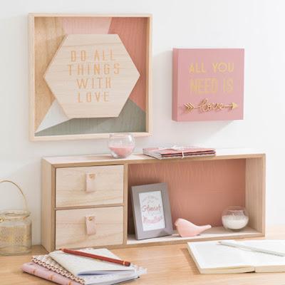 Print pattern maisons du monde modern copper for Bureau maison du monde