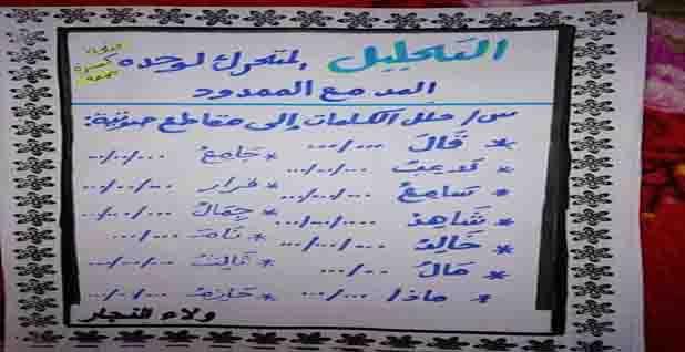 مذكرة اللغة العربية للصف الاول الابتدائى الترم الثانى 2020