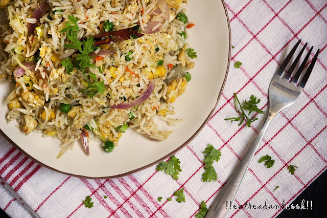 Stir Fried Leftover Rice / Bhaja Bhat recipe