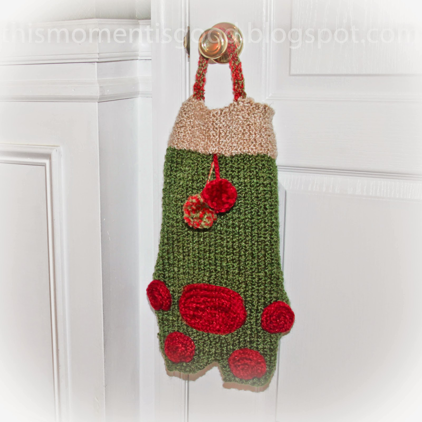 Knitting Pattern Child s Christmas Stocking : Loom Knitting by This Moment is Good!: LOOM KNIT PET STOCKING PATTERN...