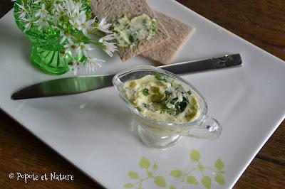 beurre d'ail aux fleurs d'ail des ours © Popote et Nature