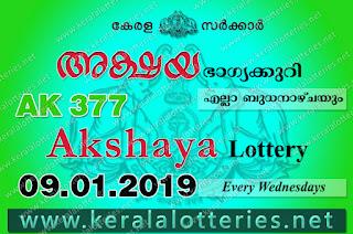 Kerala Lottery Results: 09-01-2019 Akshaya AK-377 Lottery Result