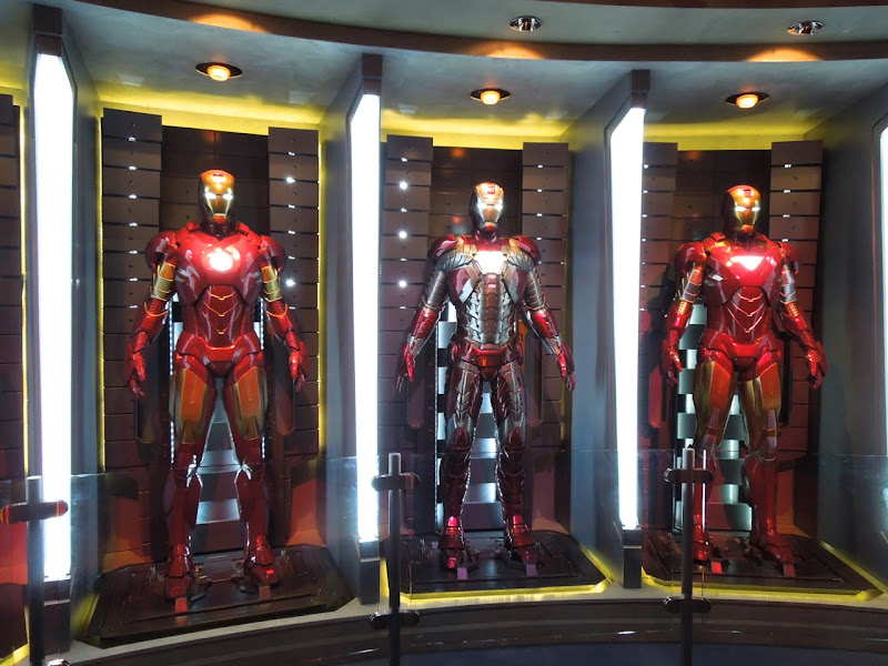 Iron Man film suits Disneyland