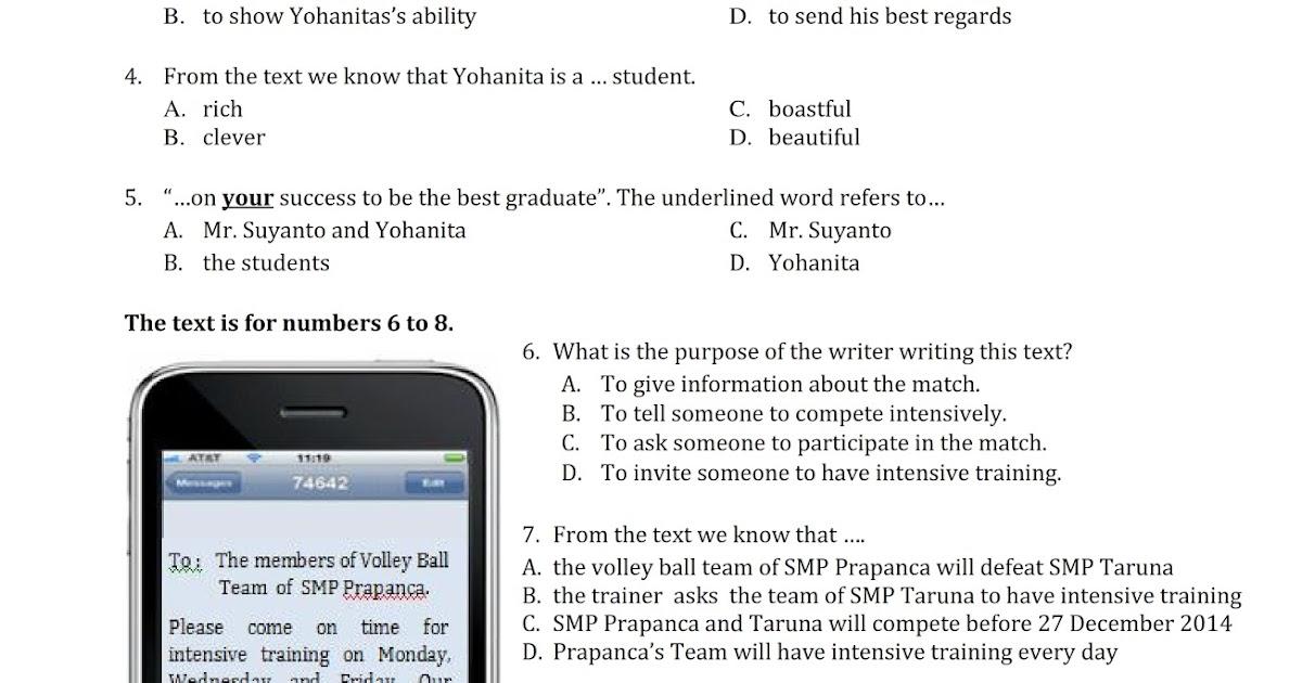 Soal Uas Ujian Akhir Semester Bahasa Inggris Kelas 9 Semester 1 Giri Widodo