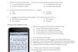 Soal UAS (Ujian Akhir Semester) Bahasa Inggris Kelas 9 Semester 1