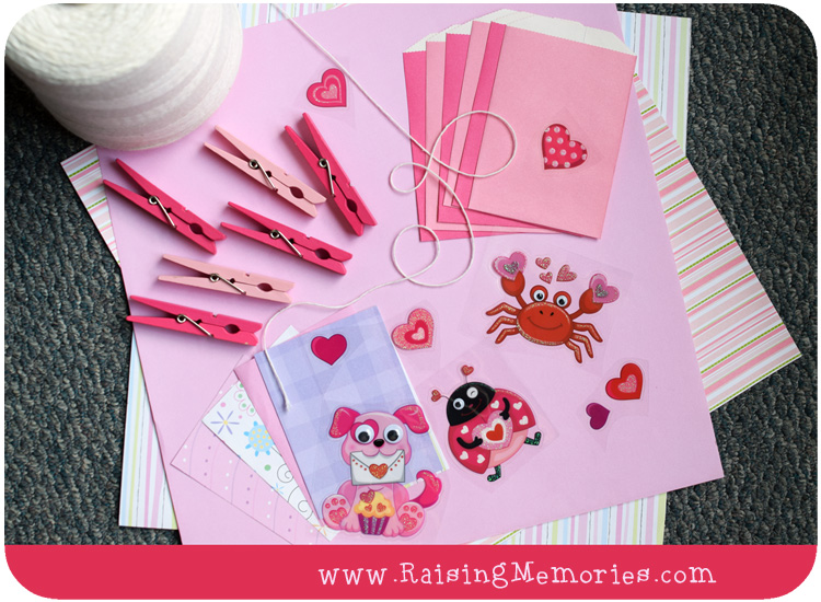 Kids Valentine Countdown Tutorial Supplies