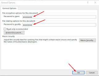 Cara Memprotek File dengan Password