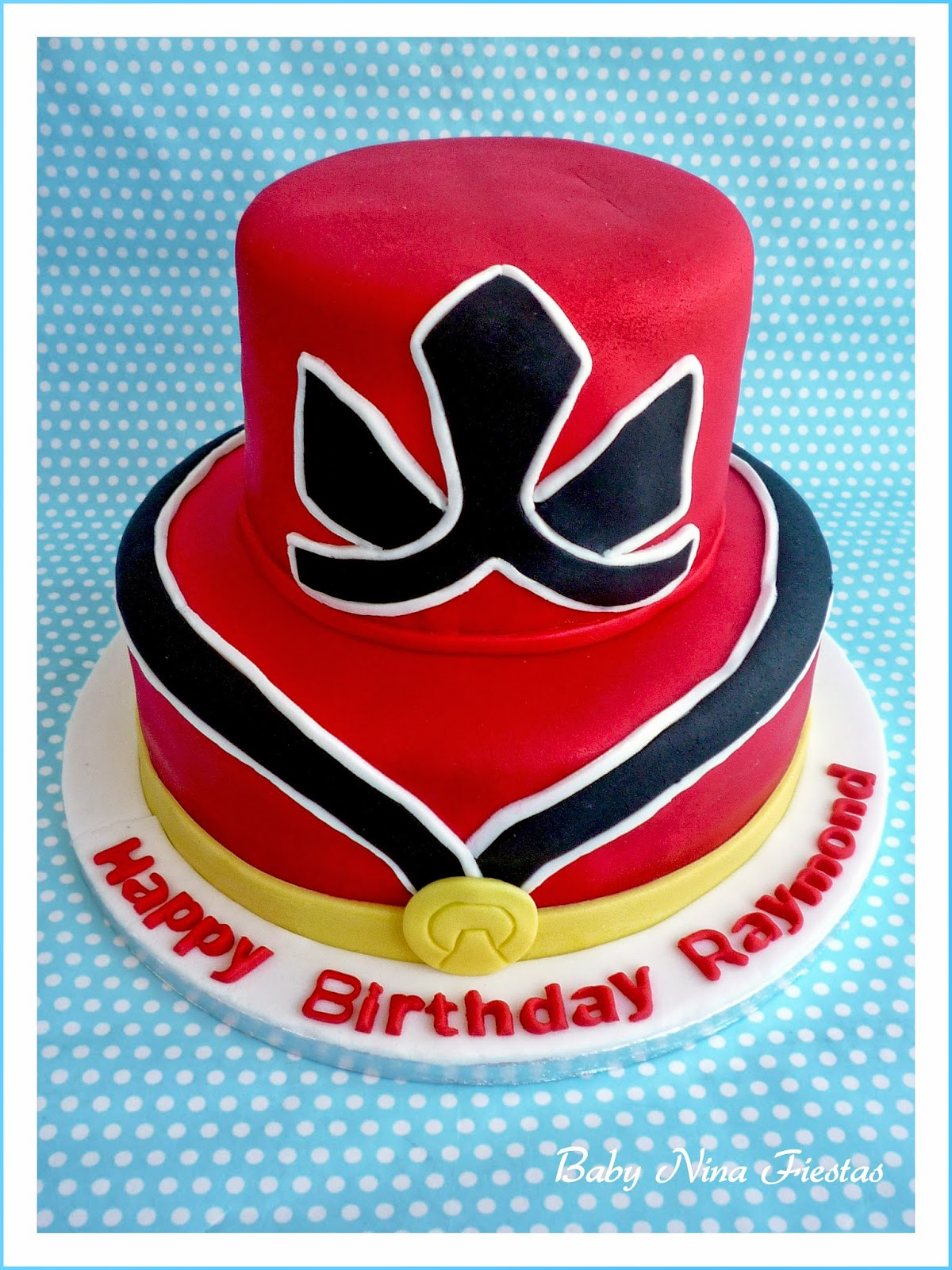 Tarta fondant power rangers