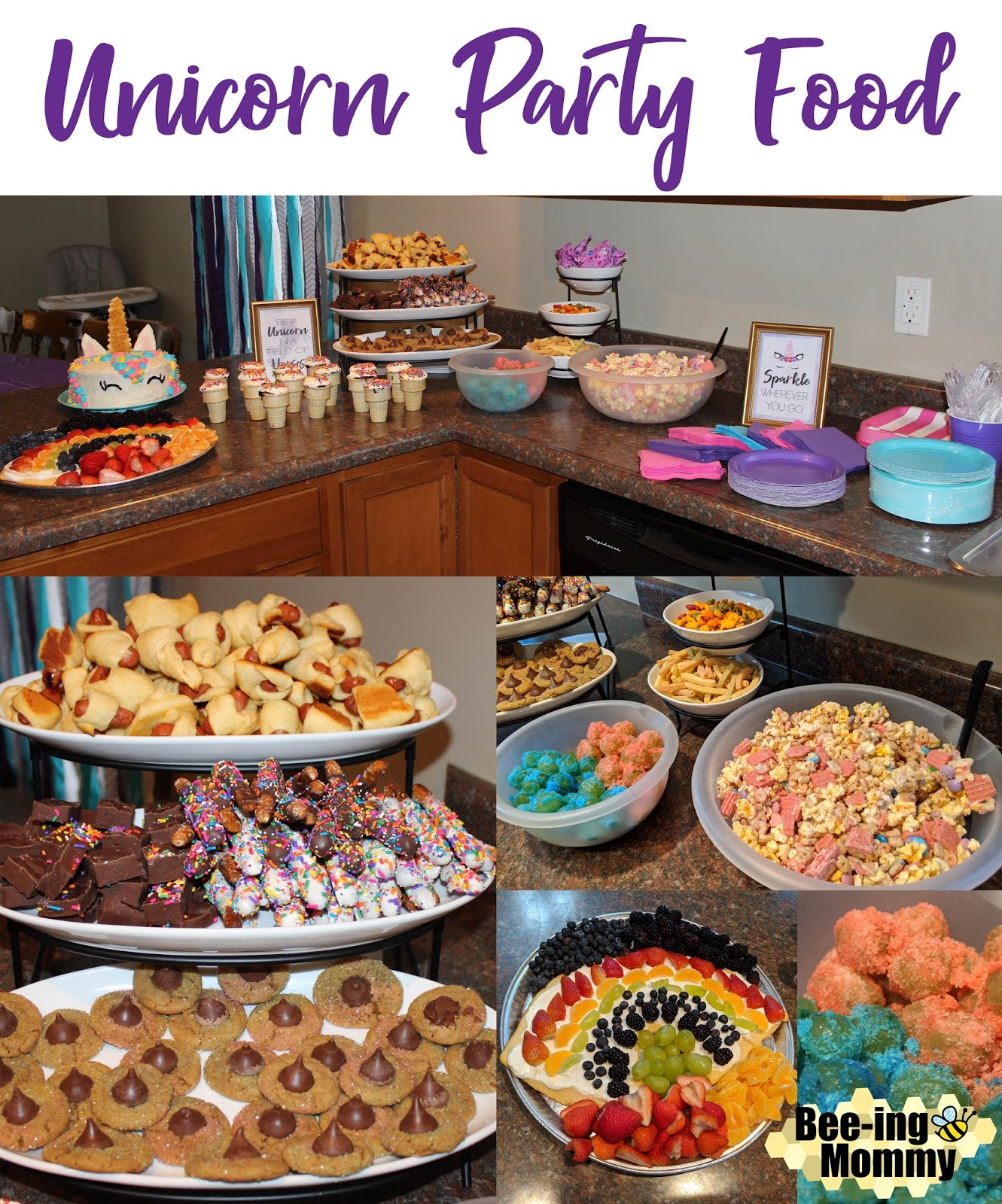 Main Dishes In A Party: Magical Unicorn Birthday Party