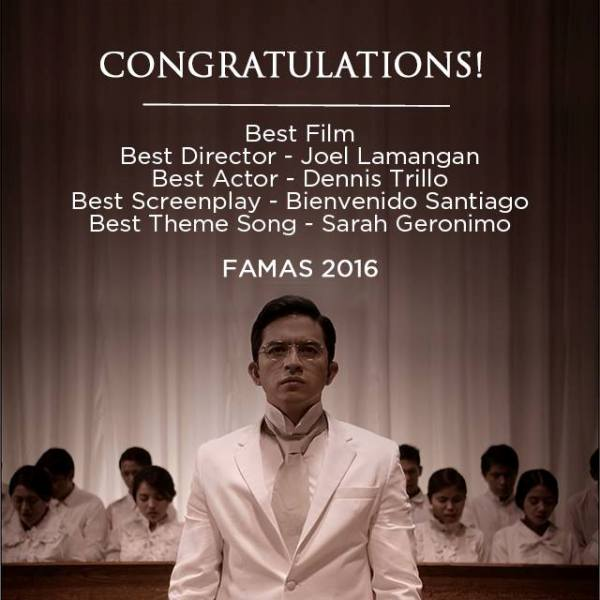 'Felix Manalo' movie bags 5 major awards at the 2016 FAMAS Awards