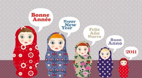 Bonne Année 2016 en Différent Langues