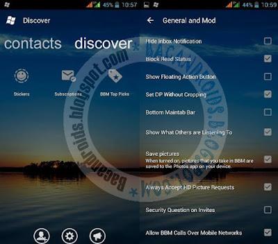 BBM Mod Windows Phone Style Transparant versi 3.0.0.18 Apk Terbaru