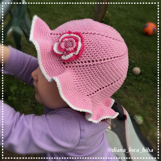 Crochet summer hat - free - step by step instructions