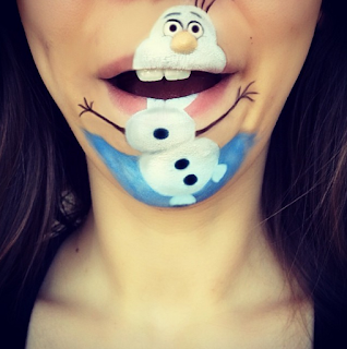 muñeco de nieve body paint boca