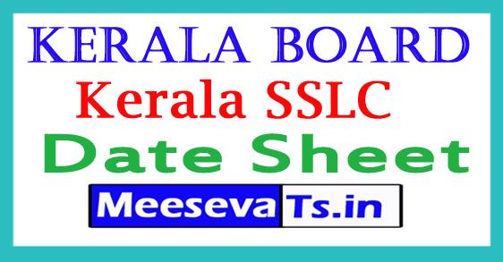 Kerala Board 10th Date Sheet