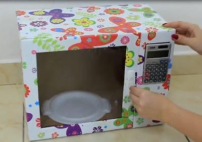 Cómo hacer un microondas y de cartón