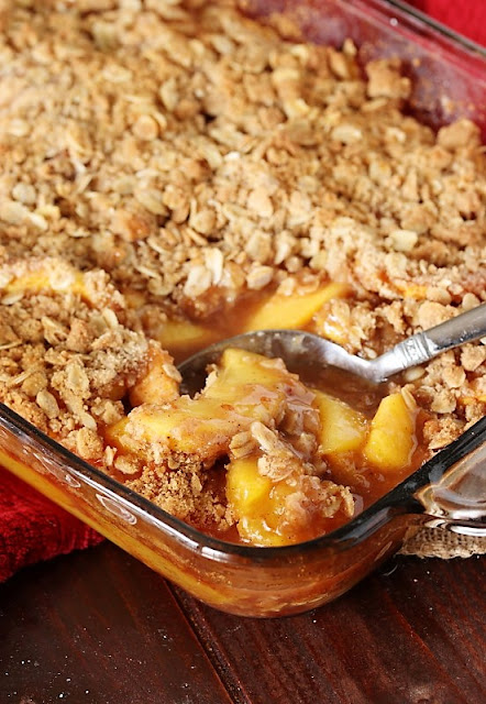 Peach Crisp with Fresh Peaches Image