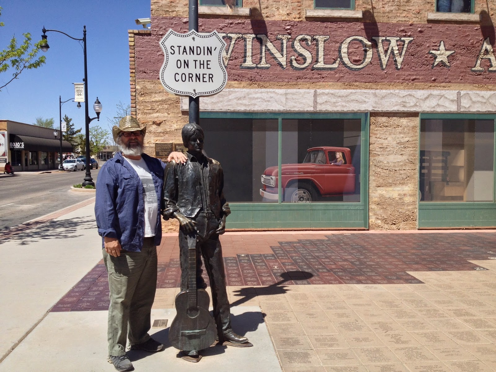 taking off standing on a corner and wandering around winslow arizona. Black Bedroom Furniture Sets. Home Design Ideas